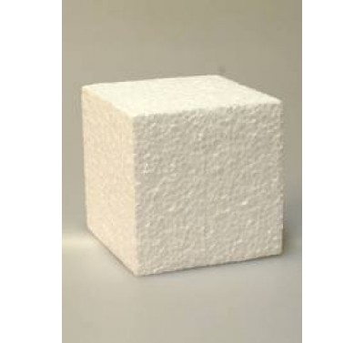 Taart dummy vierkant 10 cm - extra hoog