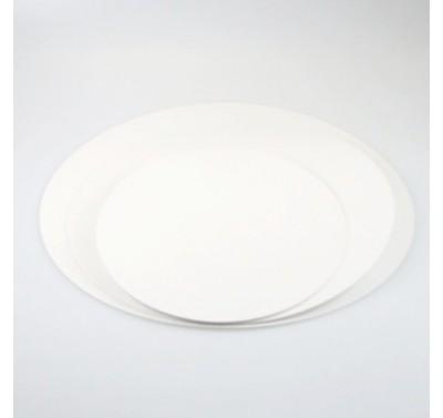 Taartkarton rond wit  20cm - 10st
