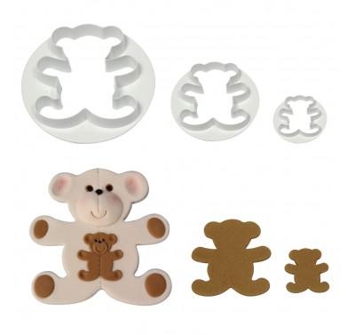 PME Teddy Bear cutter set/3