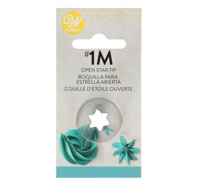 Wilton Decorating Tip #1M Open Star Carded