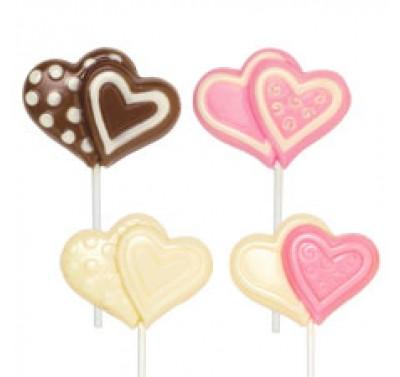 Wilton Lollipop mould double heart