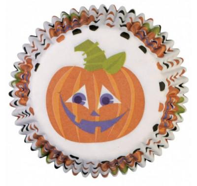 Wilton Polka Dots Pumpkin Mini Baking Cups