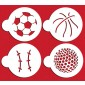 Designer Stencils Large Sports Ball Cookie
