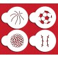 Designer Stencils Small Sports Ball Candy
