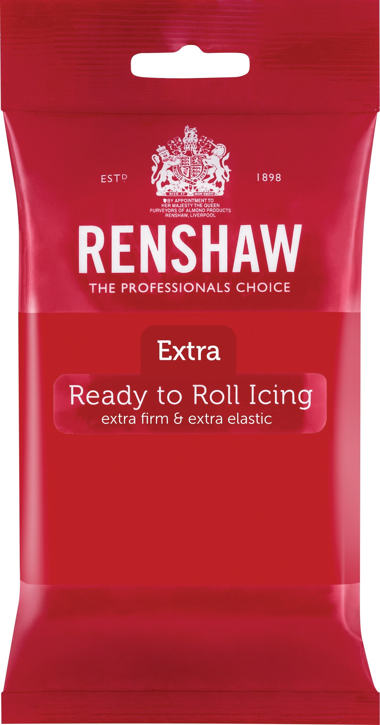 Renshaw Rolfondant Extra 250g -Red-