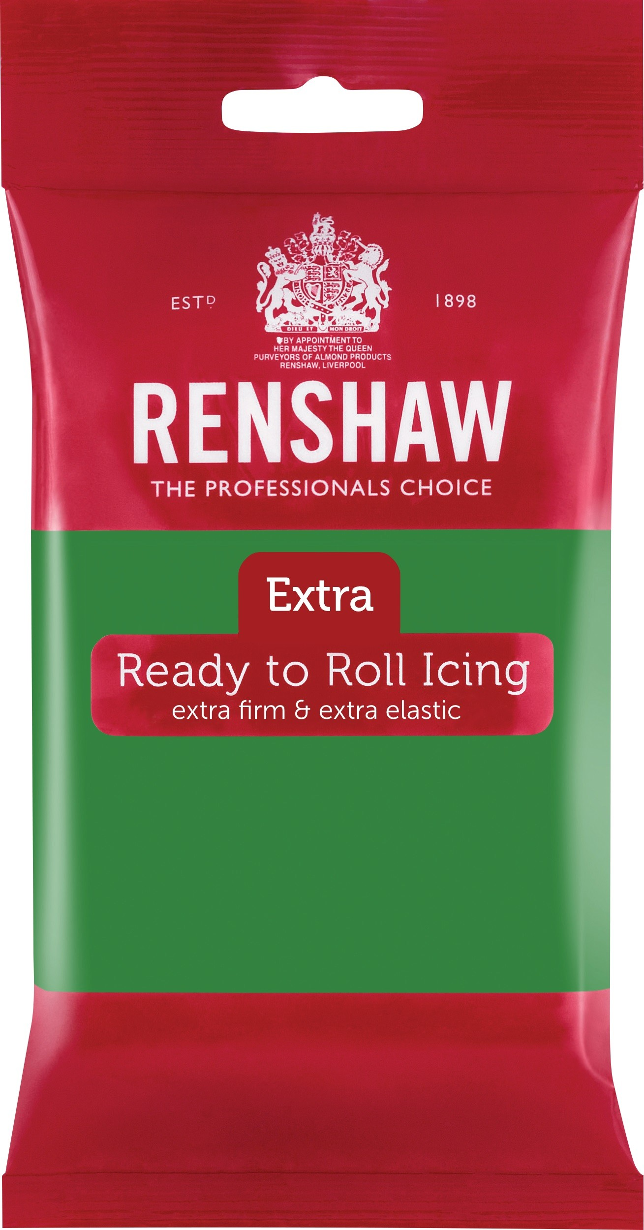 Renshaw Rolfondant Extra 250g -Green-