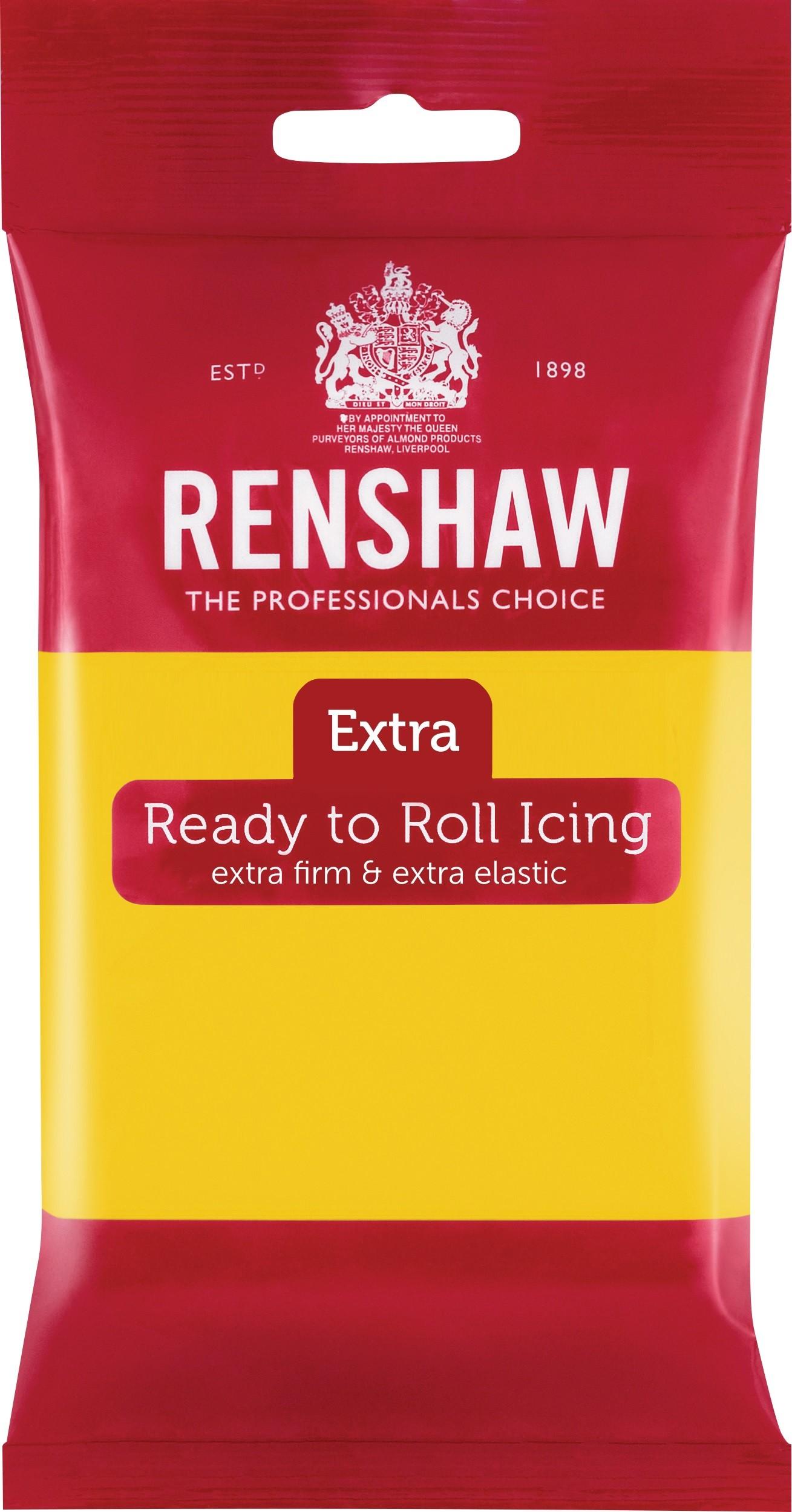 Renshaw Rolfondant Extra 250g -Yellow-