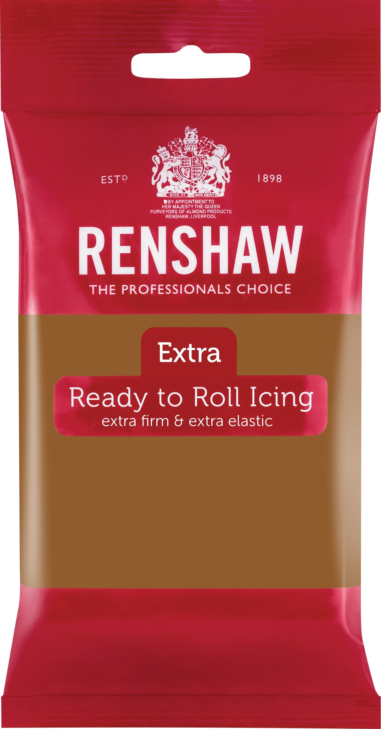 Renshaw Rolfondant Extra 250g -Teddy Bear Brown-