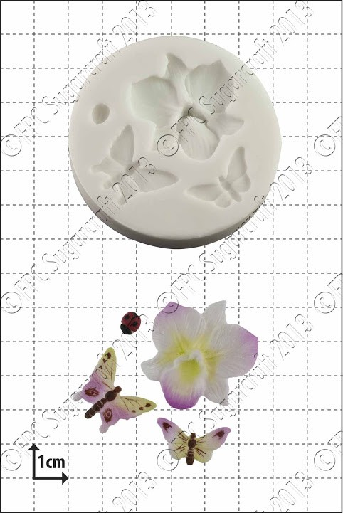 FPC Orchid & Insects Silicone Mould
