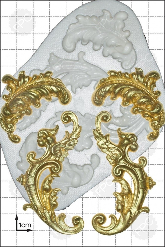 FPC 'Feather Scrolls' Silicone Mould