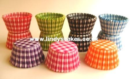 Lindy Smith Baking Cups Gingham Orange
