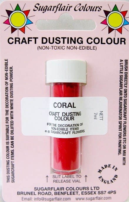 Sugarflair Craft Dusting Colour Non-Edible - Coral