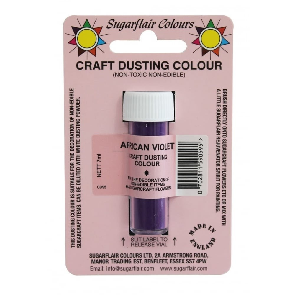 Sugarflair Craft Dusting Colour Non-Edible - African Violet