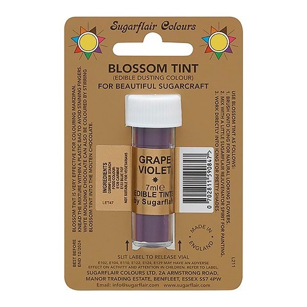 Sugarflair Blossom Tint Edible Dusting Colour - Grape Violet