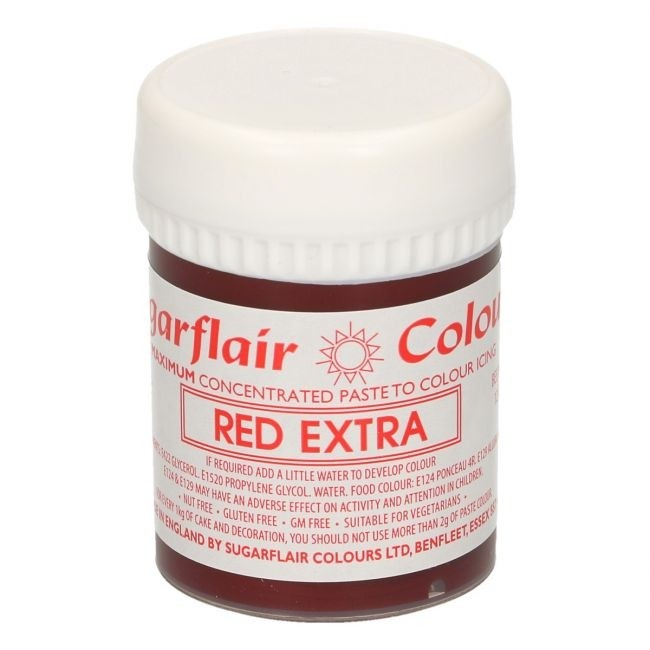 Sugarflair - Max Concentrated Paste Colour Red Extra