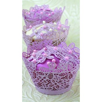 Cake Lace - Victoriana 3D Cake Lace Cupcake Wrapper Mat