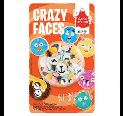Cake Décor Crazy Faces