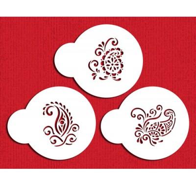 Designer Stencils Silk Paisley Cookie Set